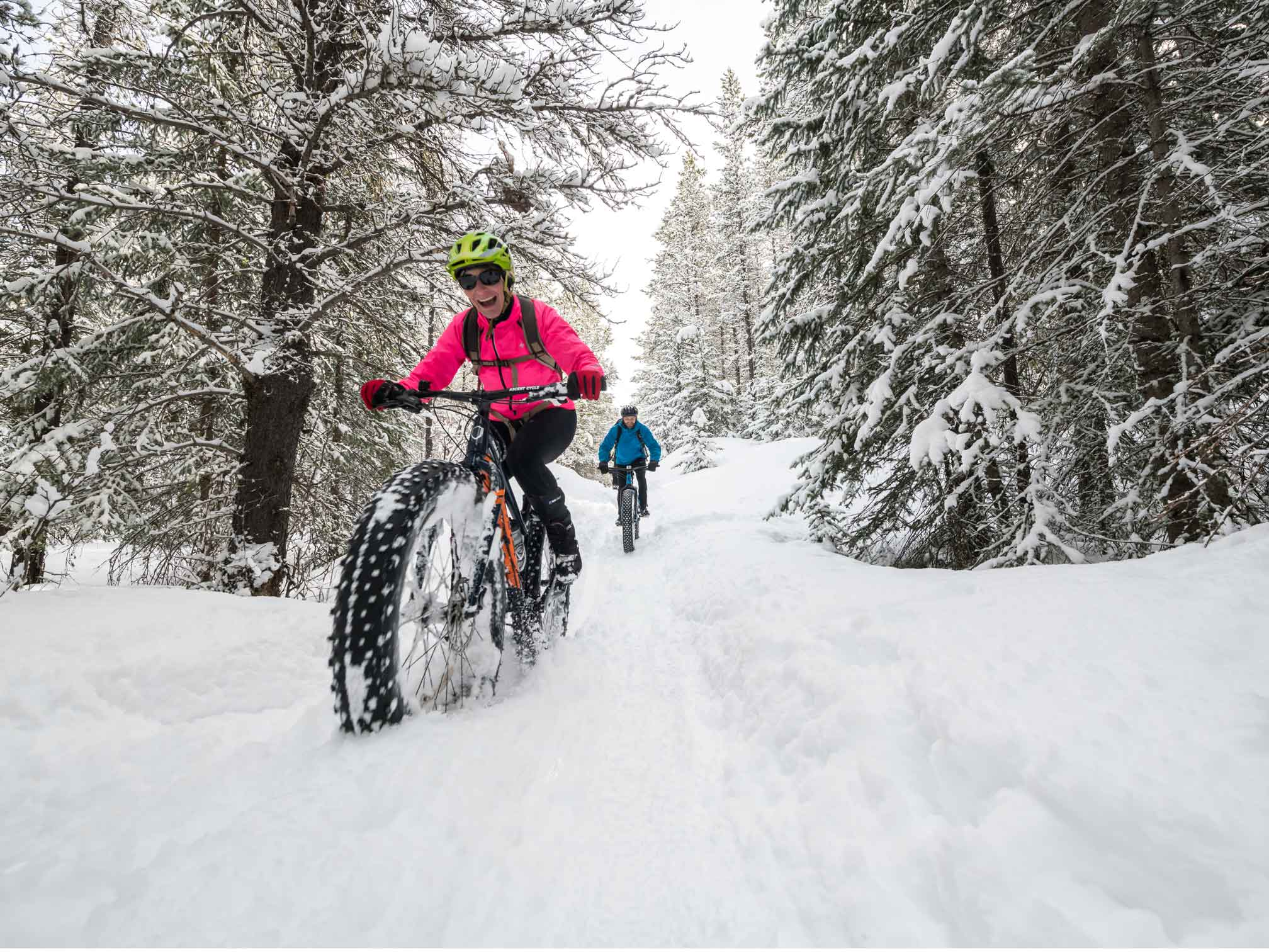 Fatbiking is a new and exciting way to stay outside in winter. Photo by Bryce Meyer
