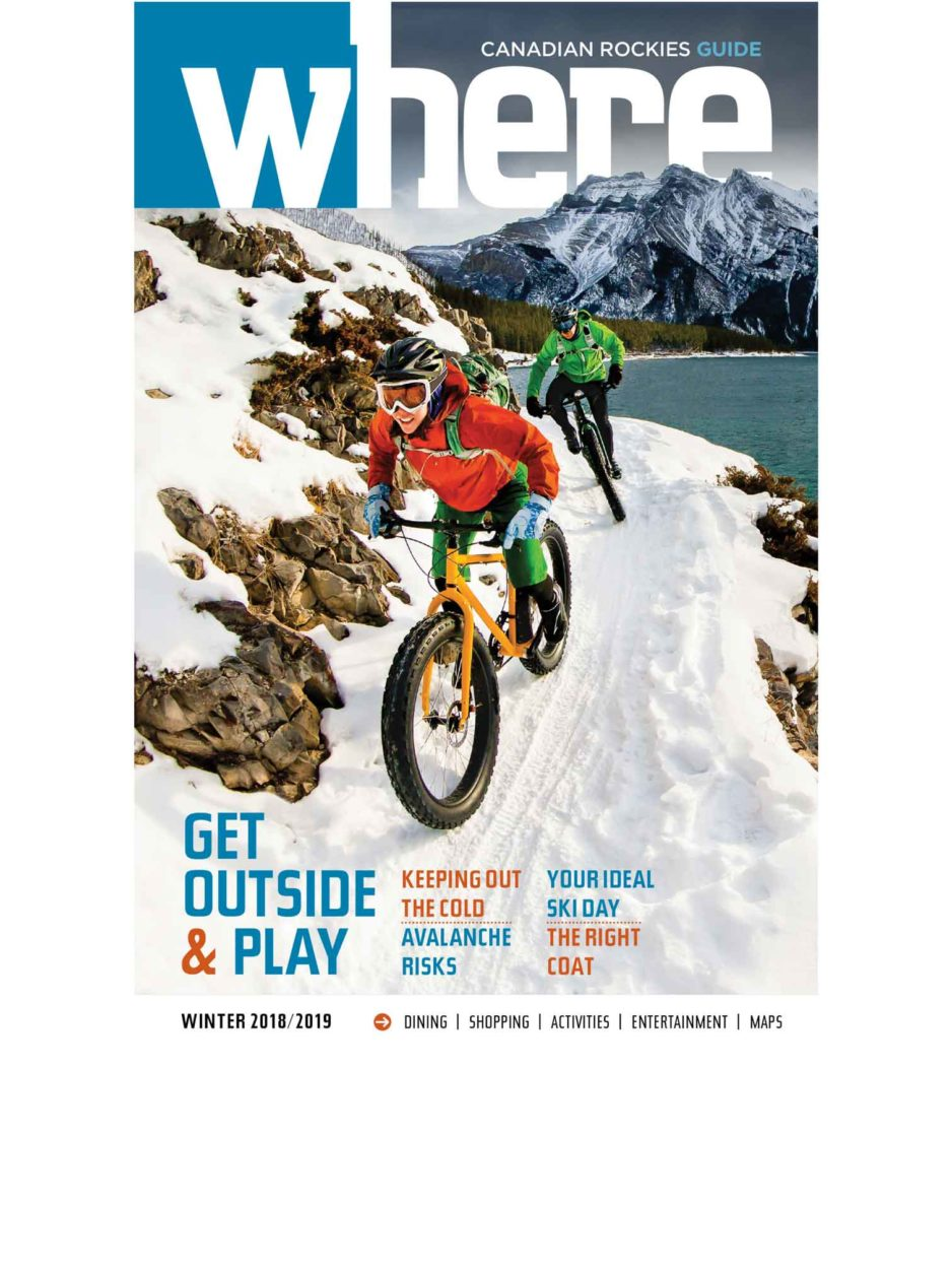 Spotted on the Cover! Fatbiking in the Canadian Rockies on Where Rockies