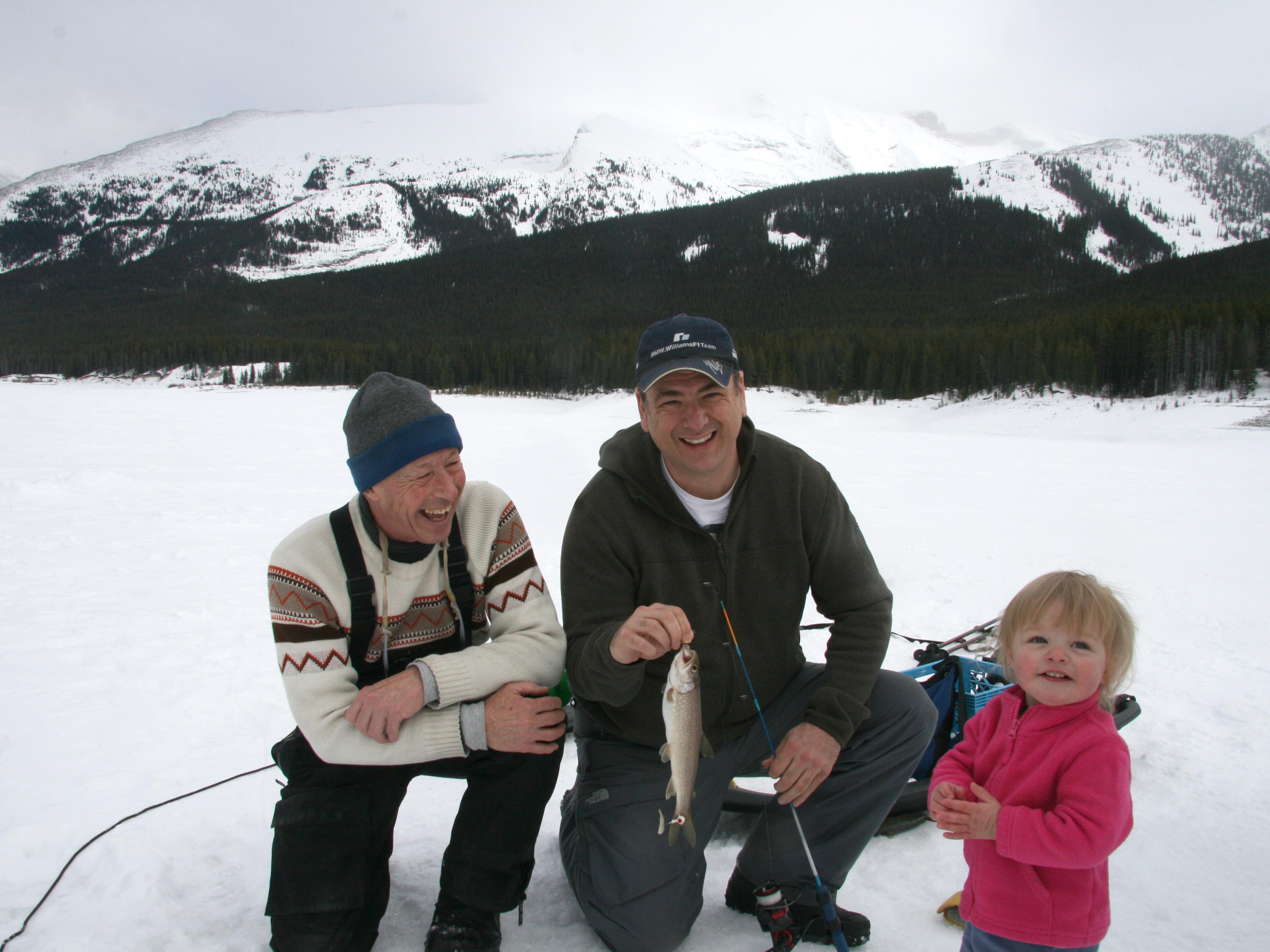 Ice Fishing Spray Lakes Fish
