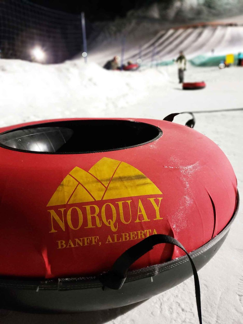 Night Tubing at Mt Norquay on Where Rockies