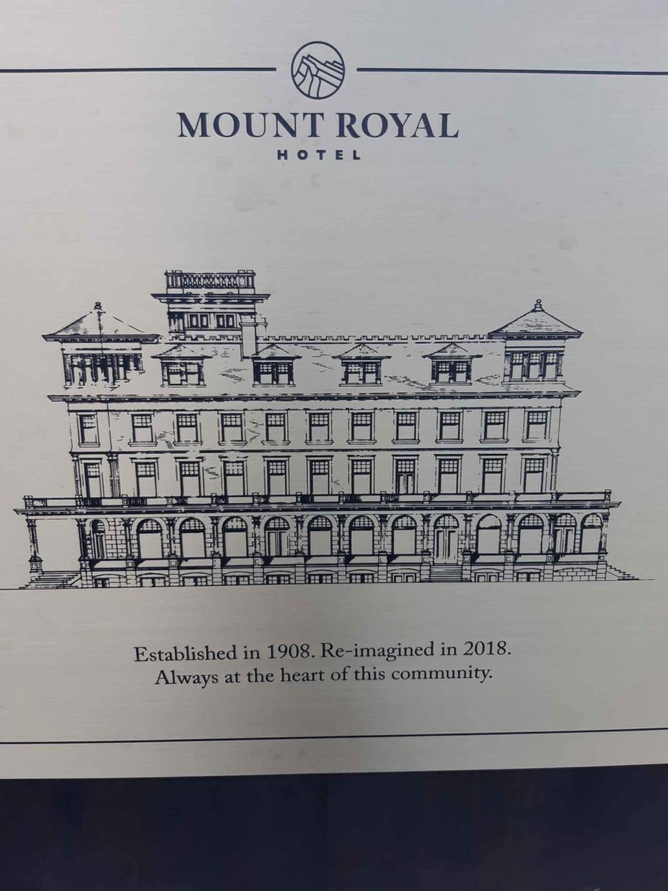 The Mount Royal Hotel History on Where Rockies