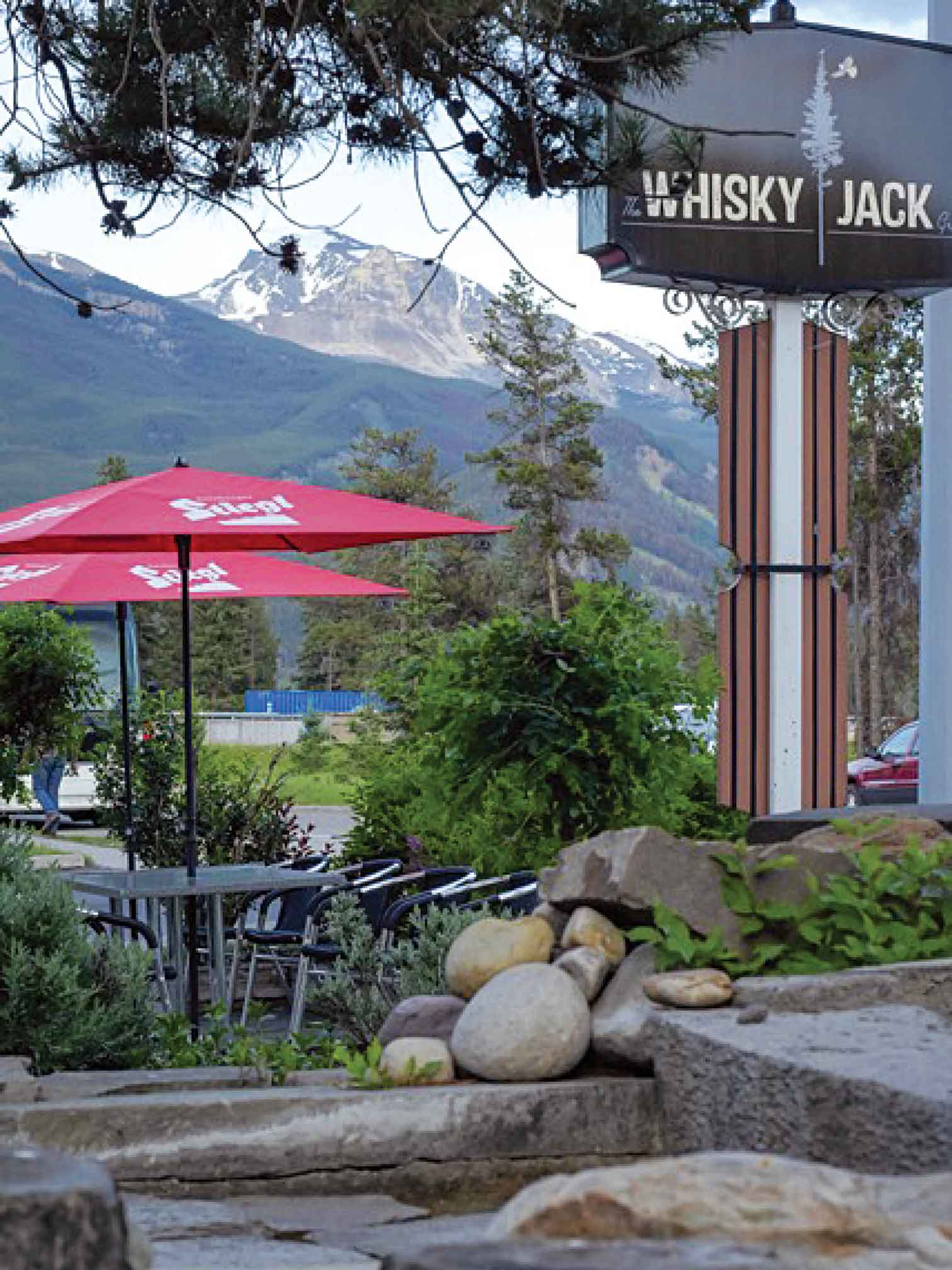 Amazing views on the Whisky Jack Grill patio