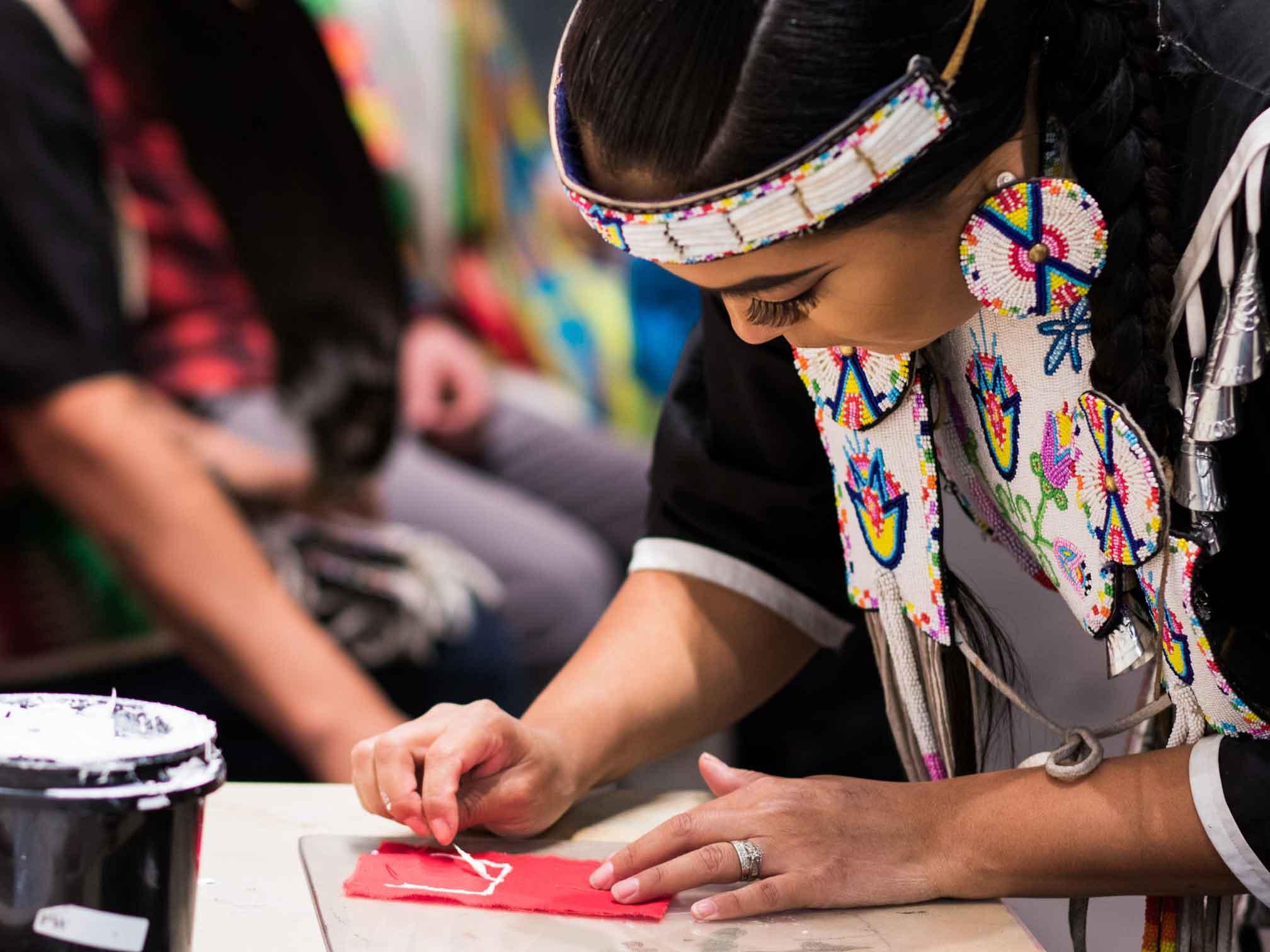 Canadian Rockies Indigenous art: work in progress