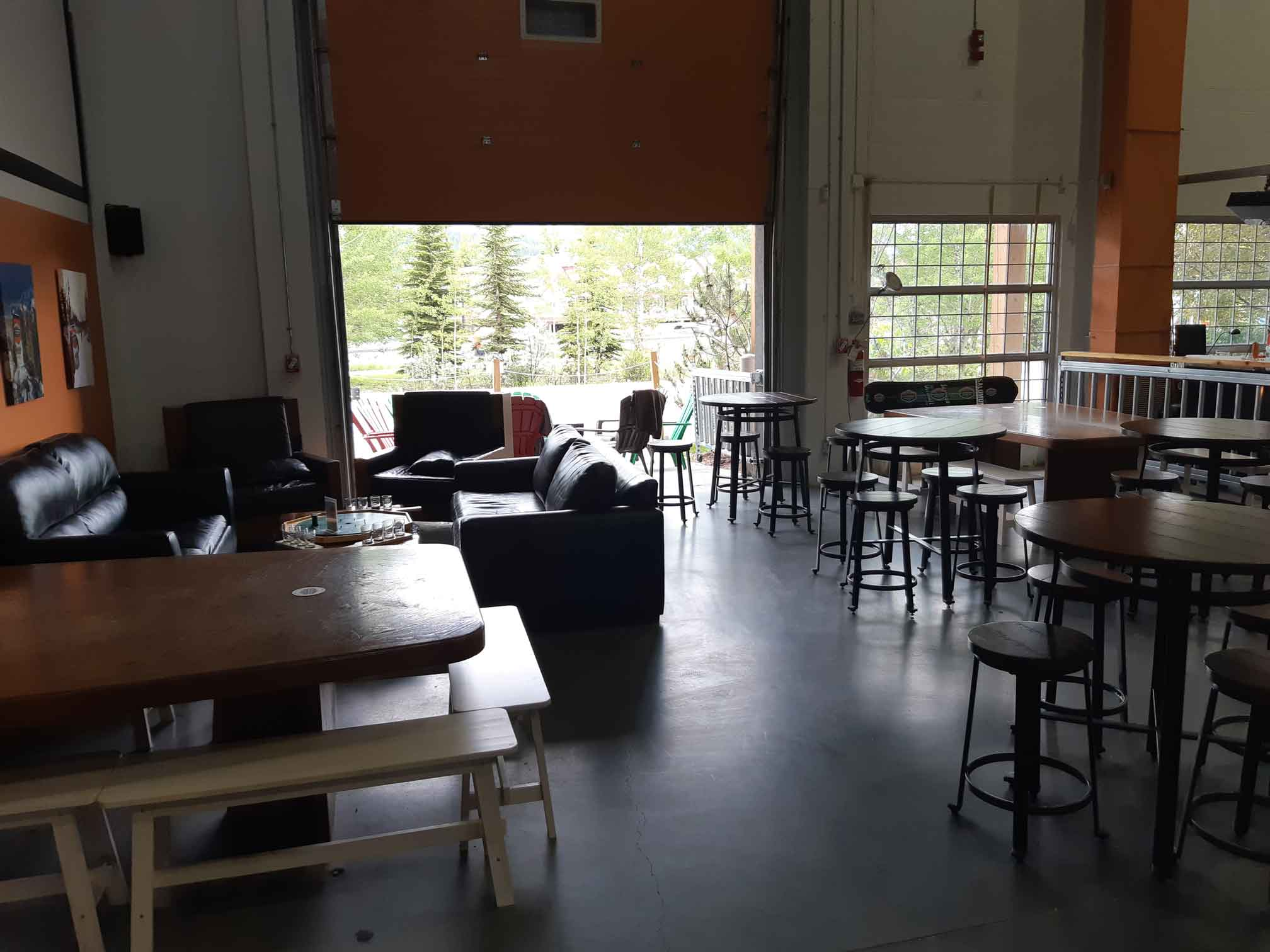 Inside Canmore Brewing Company