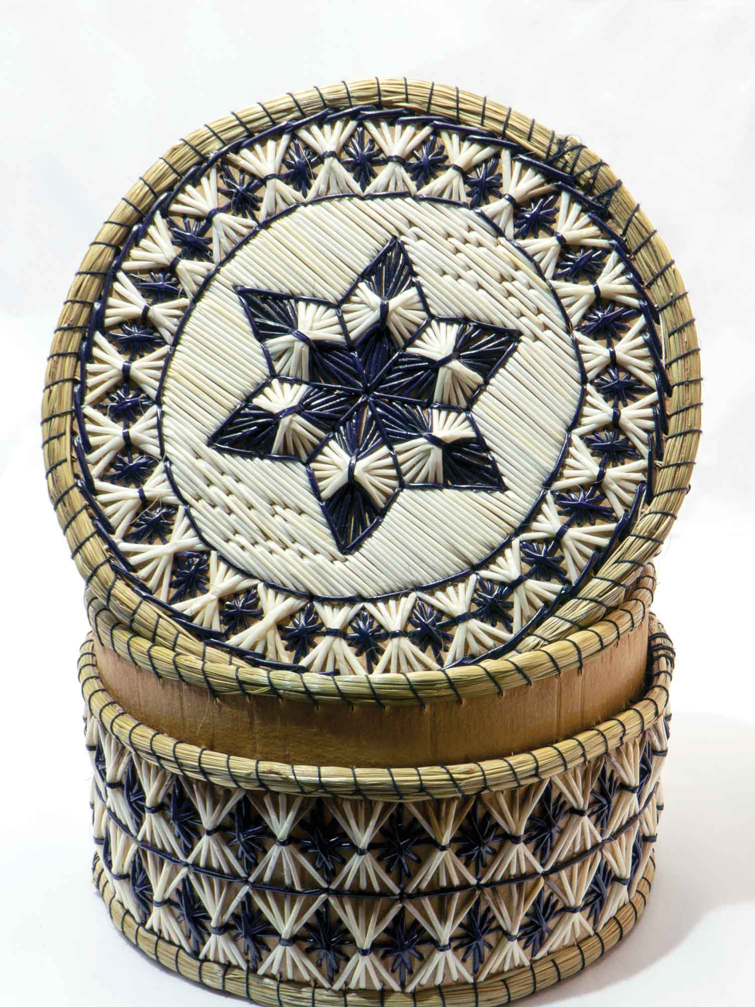 Canadian Rockies Indigenous art basket from Our Native Land