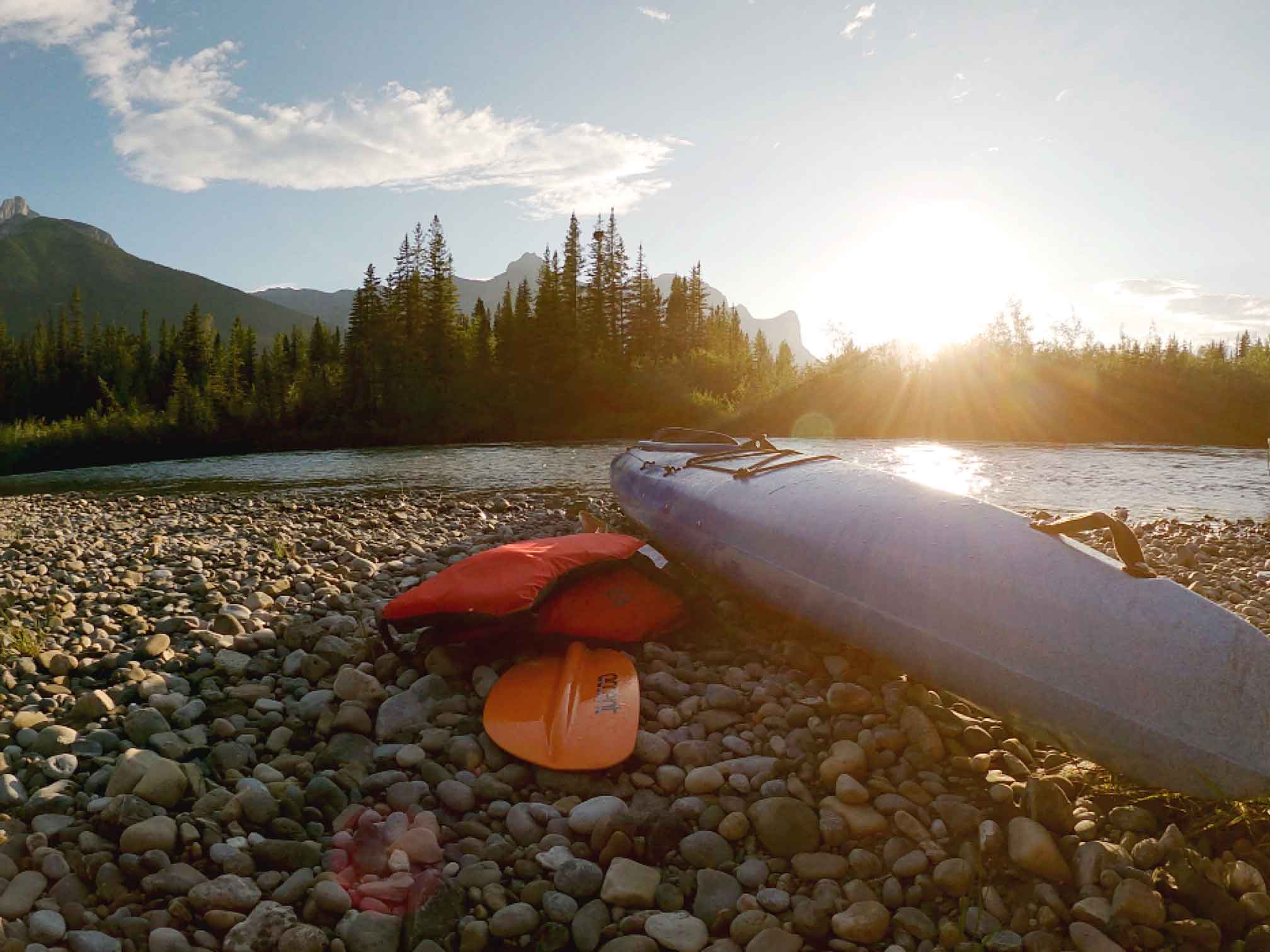 An Evening Paddle: Canmore to Exshaw