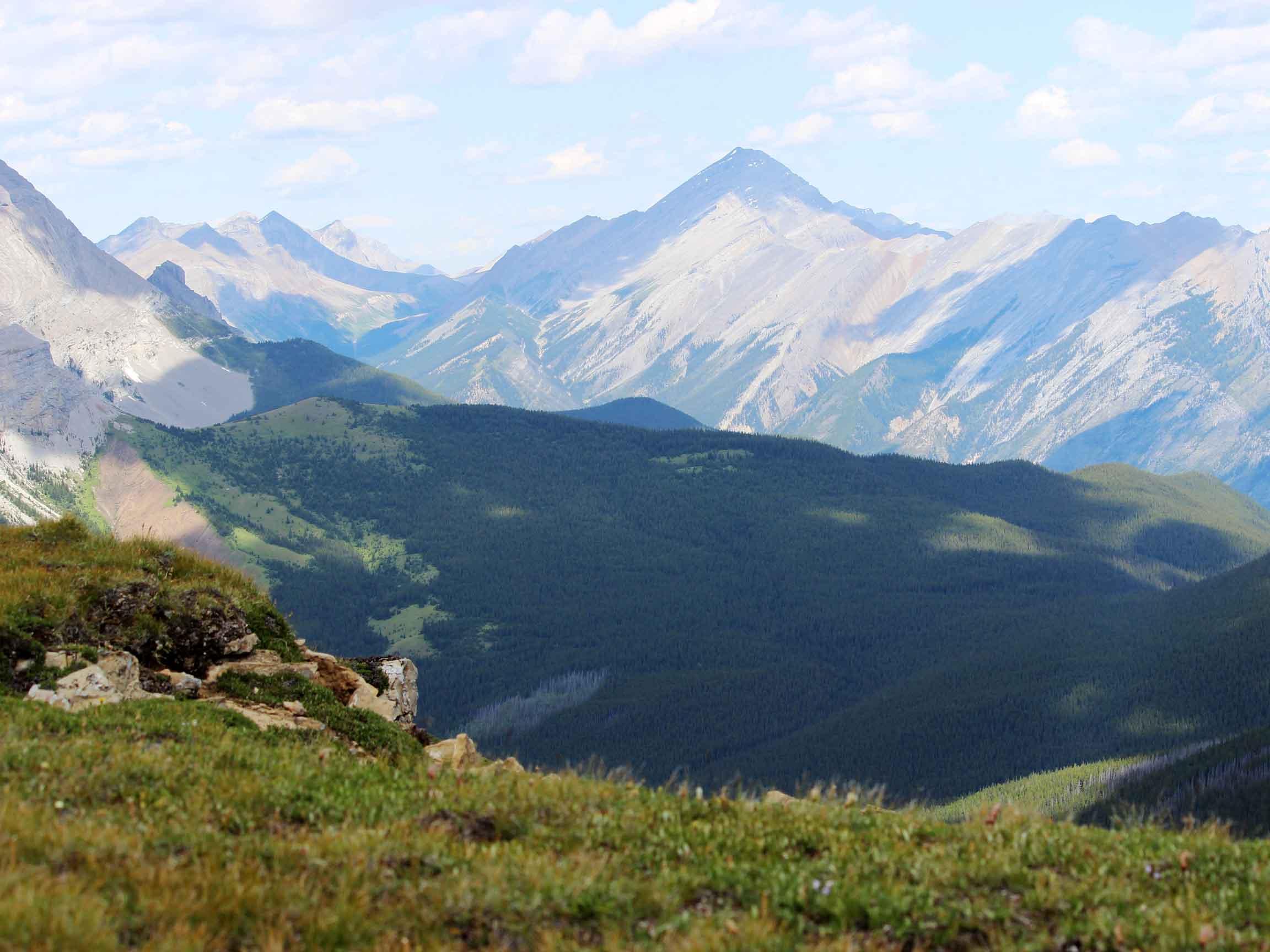 White Mountain Adventures Heli Hike overlooking Banff National Park