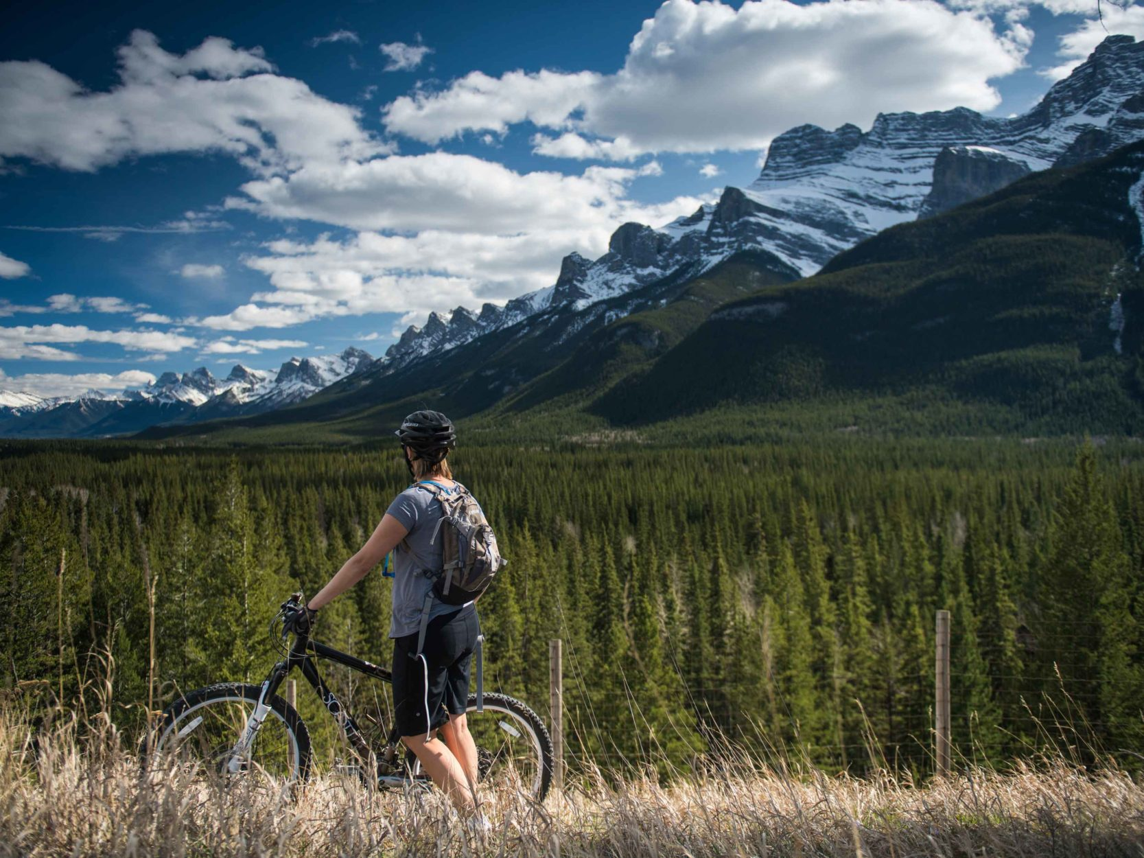 Biking the Legacy Trail between Banff and Canmore in the Fall Shoulder Season on Where Rockies