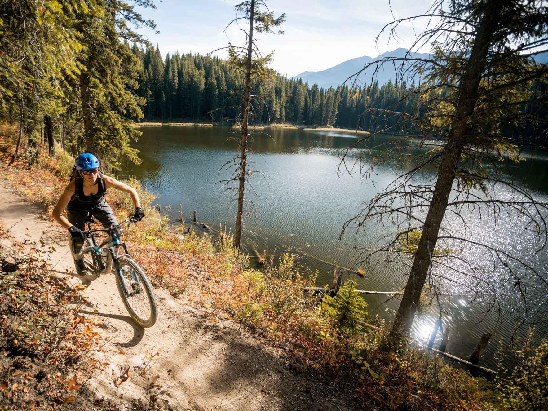 Mountain biking with Higher Ground in Golden BC