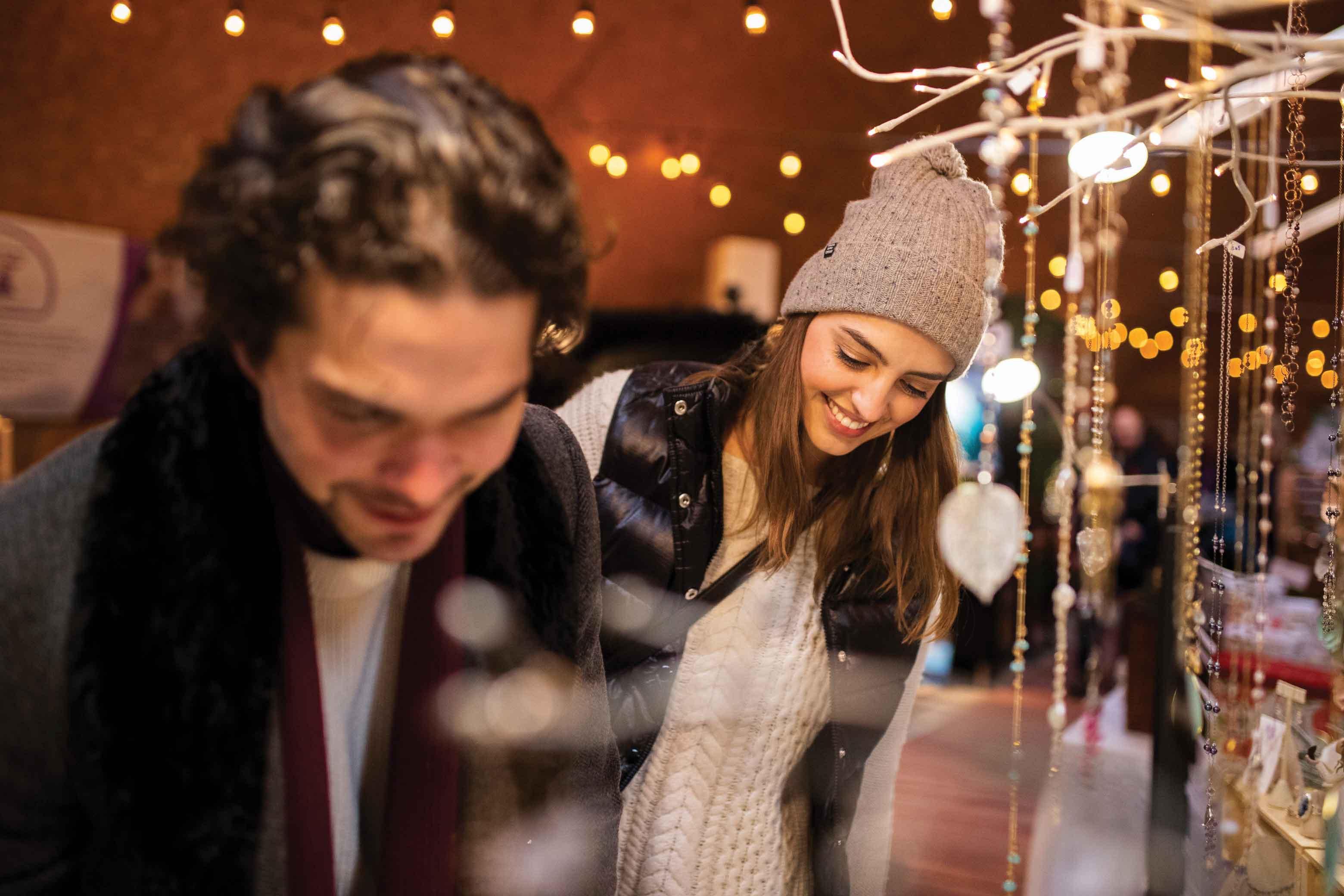 Nighttime Outdoor Adventures Banff Christmas Market