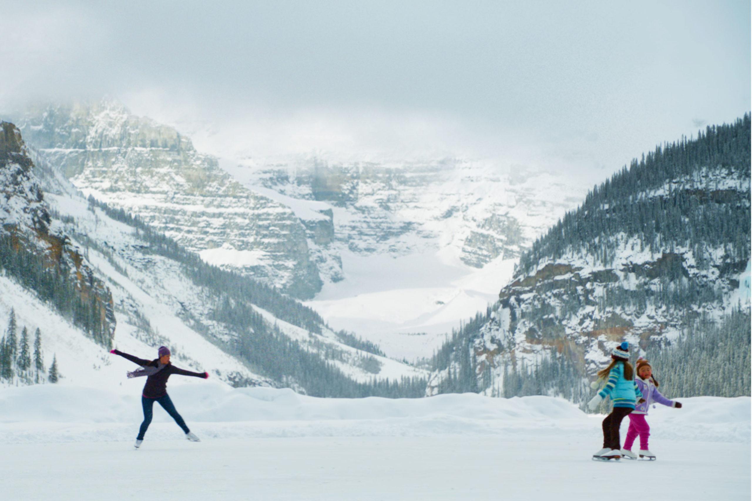 Christmas Ice Skating Canadian Rockies