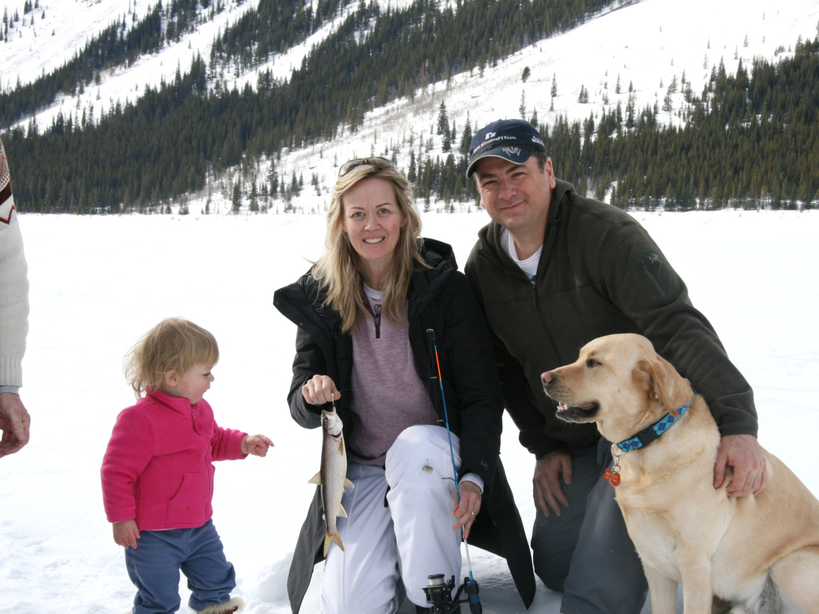 Family and Ice: Ice Fishing on Spray Lakes on Where Rockies