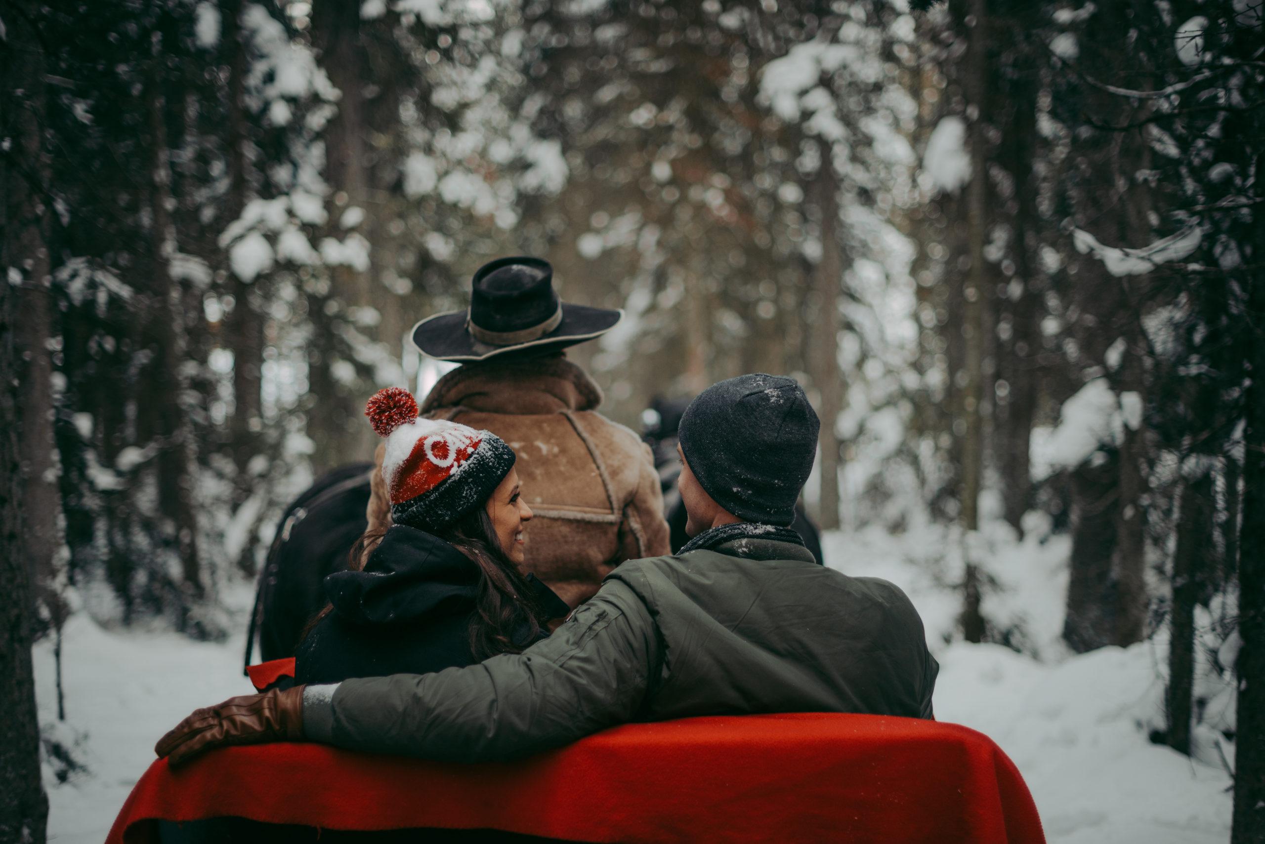 Sleigh Ride Christmas in the Rockies Celestine Aerden