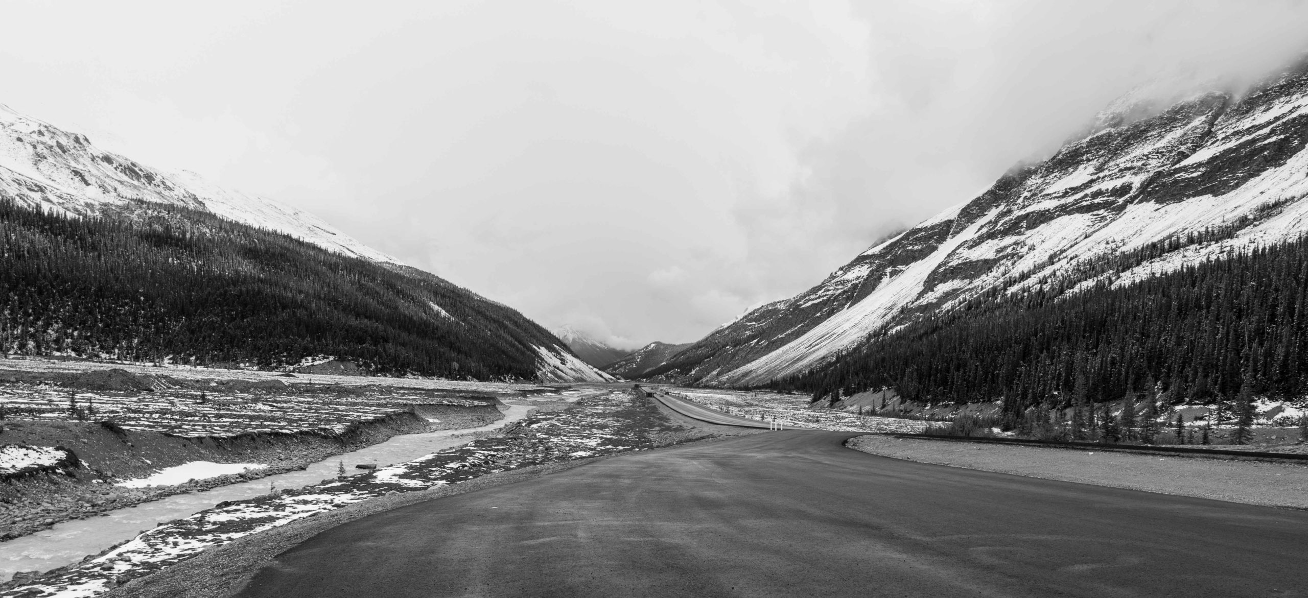 Mountain view while driving through the Canadian Rockies by Jack Hawkins