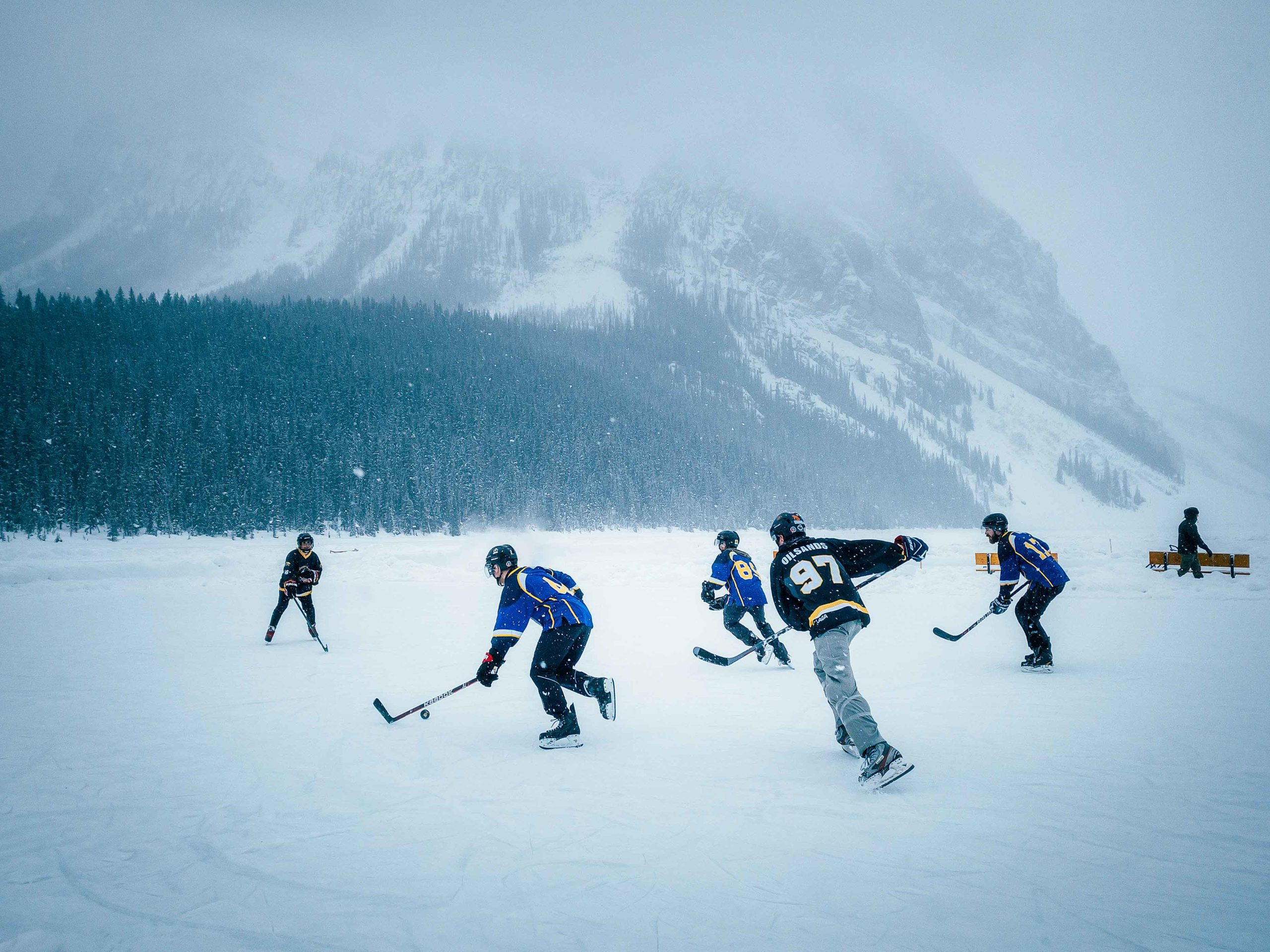 Sanjay Chauhan takes advantage of the soft light of the clouds over the pond hockey classic in his photography tips for your phone series