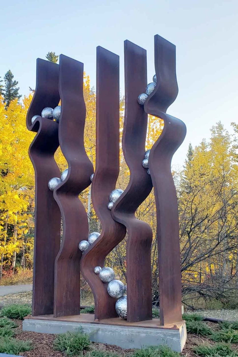 Public Art in Canmore on Where Rockies