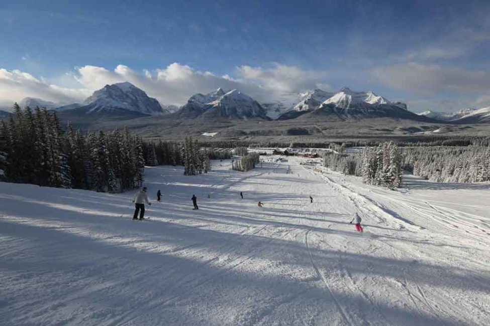 Winter Opening Day at Lake Louise! on Where Rockies