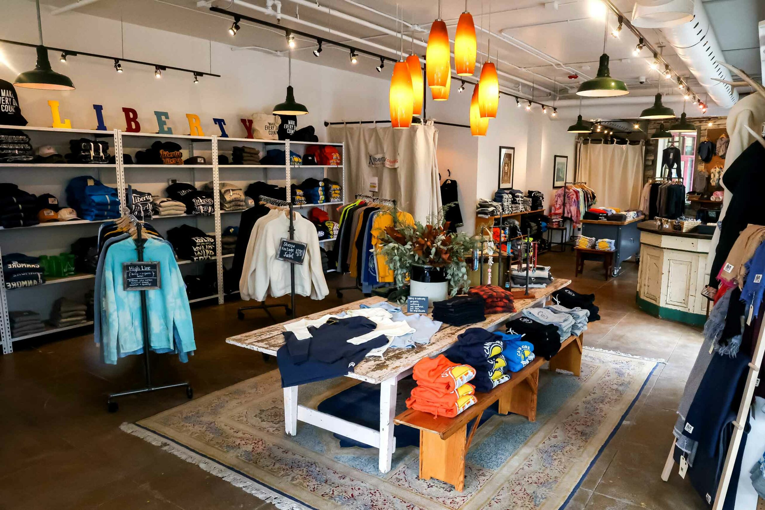 Inside of Canmore's new Liberty Clothing store by Katharyn Sotvedt