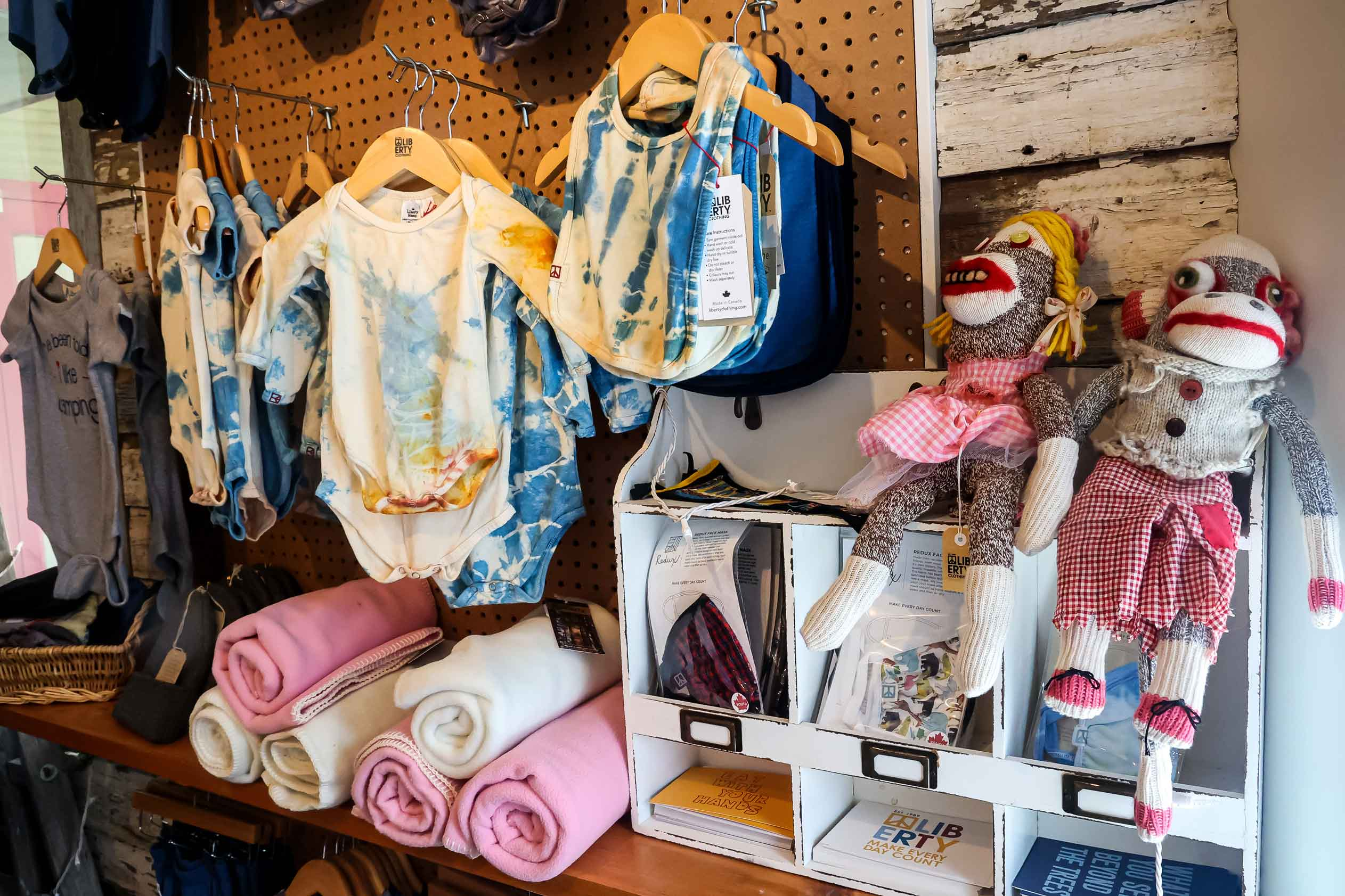 Infant items from Liberty Clothing. Photo by Katharyn Sotvedt