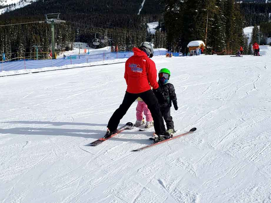 Bringing the Kids for a Ski Lesson at Lake Louise Ski Resort on Where Rockies