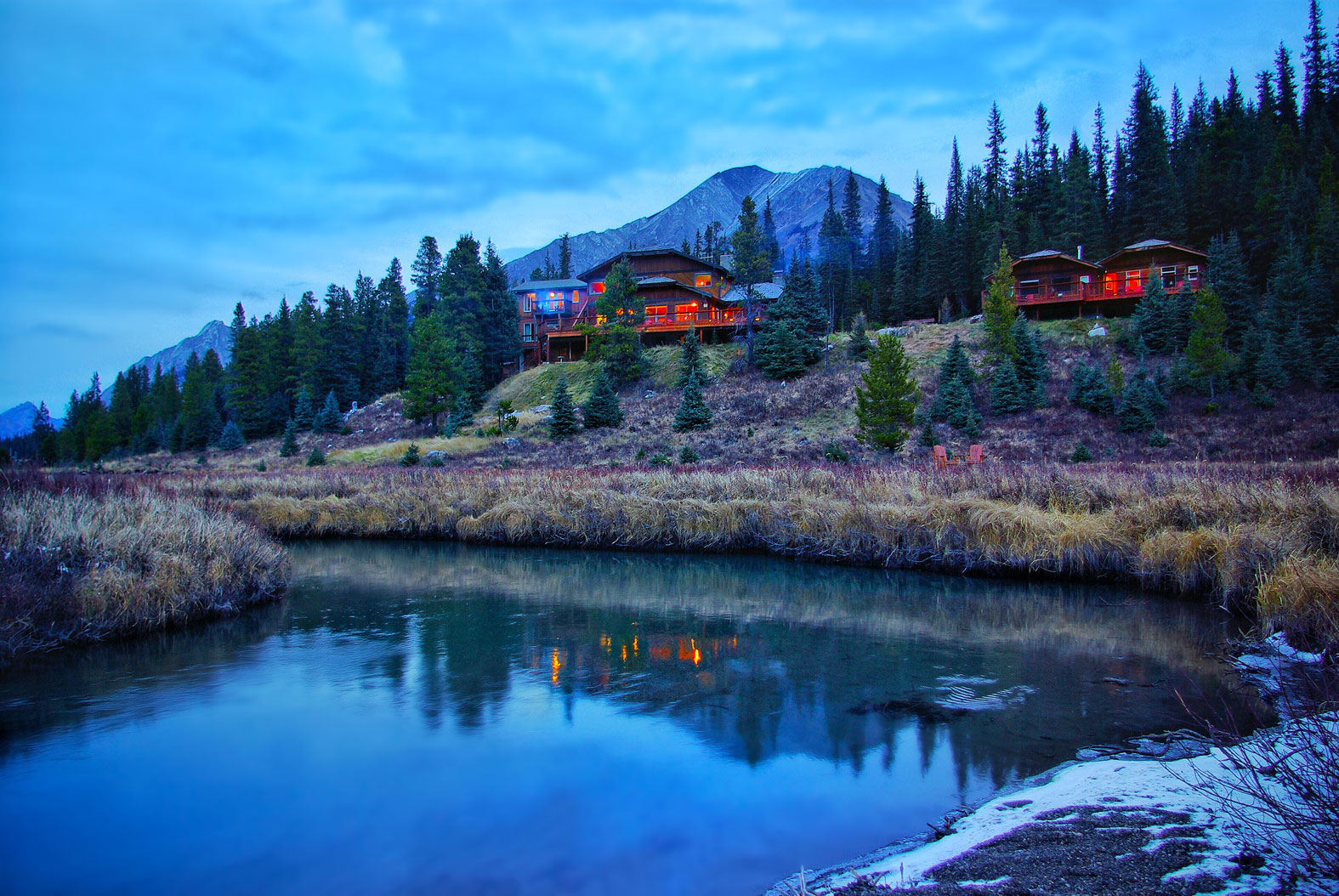 Mount Engadine Lodge is located in the area covered by the Conservation Pass