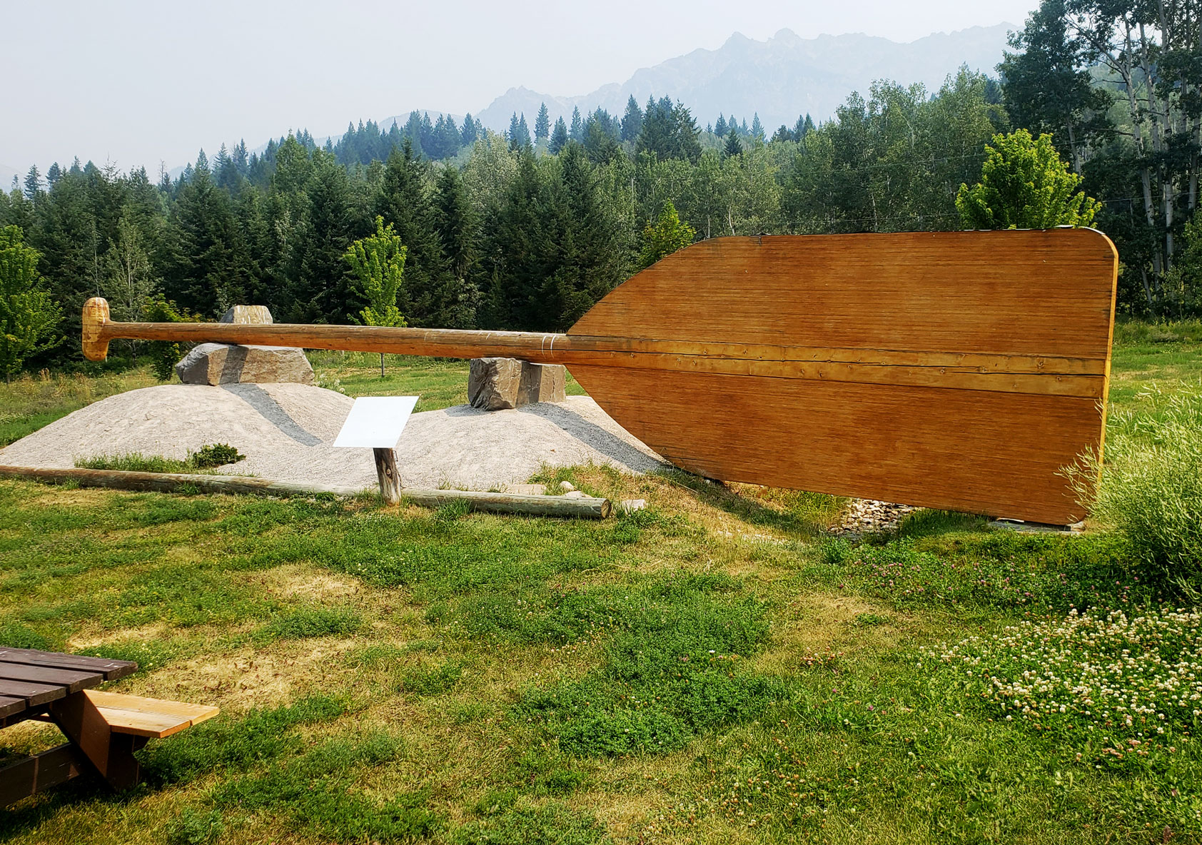 World's Largest Paddle at Columbia Wetlands Outpost