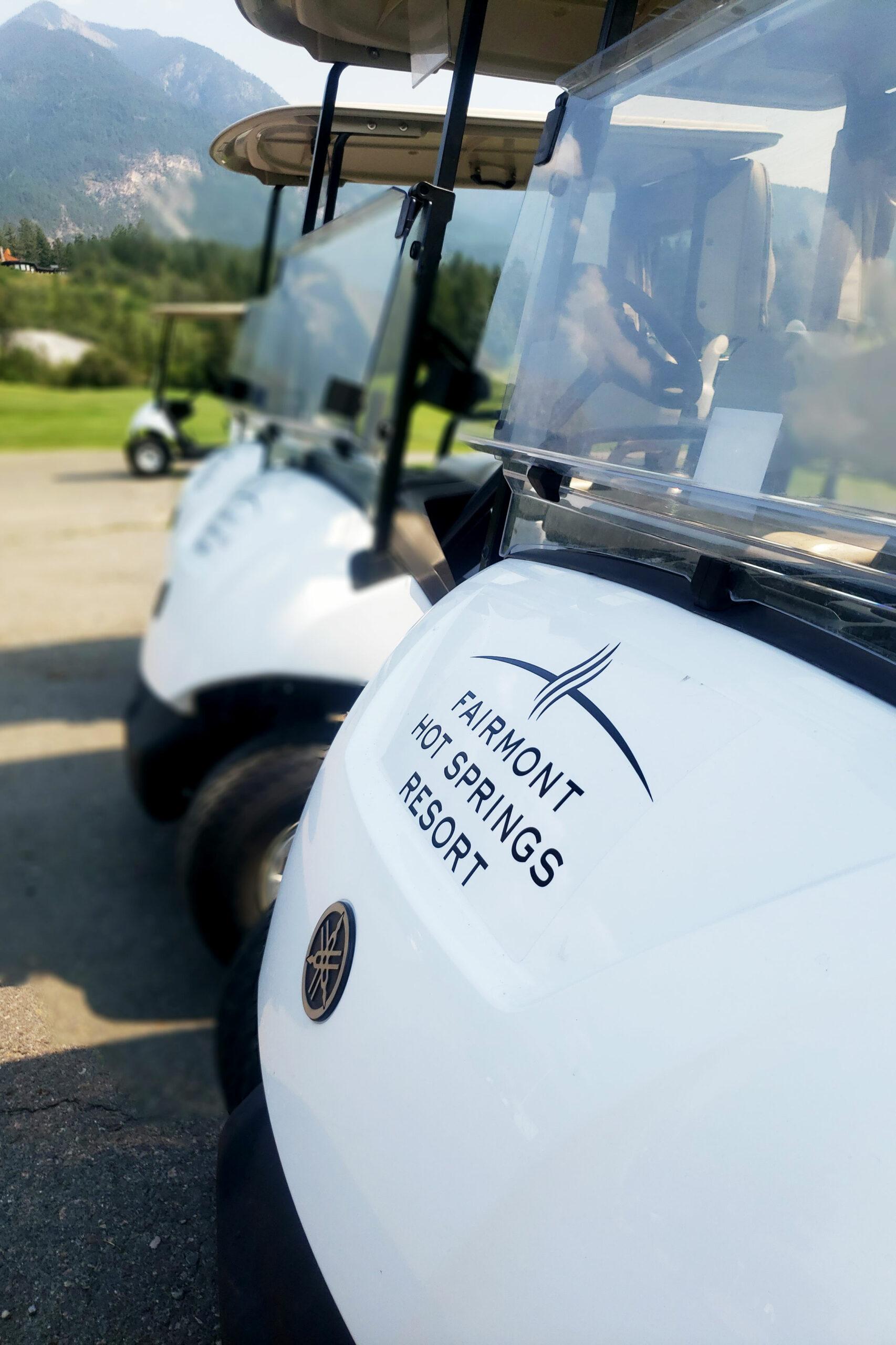 Golf Carts at Fairmont Hot Springs Resort